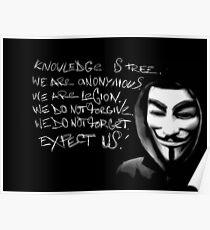 Anonymous Slogan Poster