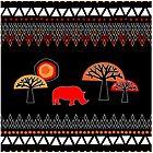 African Rhino (hot colors) by karapeters