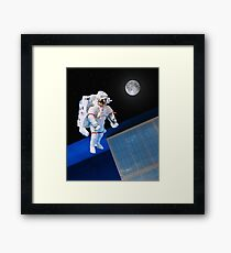 Space Walk Framed Print
