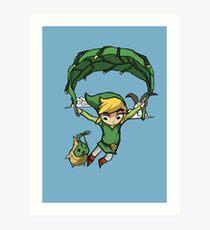 Lámina artística Legend Of Zelda - Volando lejos