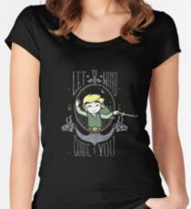 Let The Wind Guide You Women's Fitted Scoop T-Shirt
