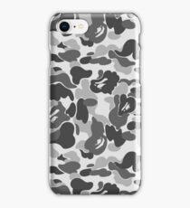 BAPE Camo Greyscale Black and White iPhone Case/Skin