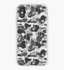 BAPE Camo Greyscale Black and White iPhone Case