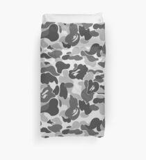 BAPE Camo Greyscale Black and White Duvet Cover