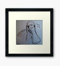 Spoon Bill (Sketch) Framed Print