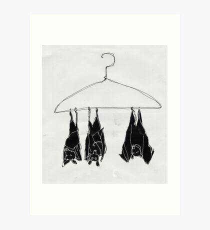 fruitbats in the closet Art Print