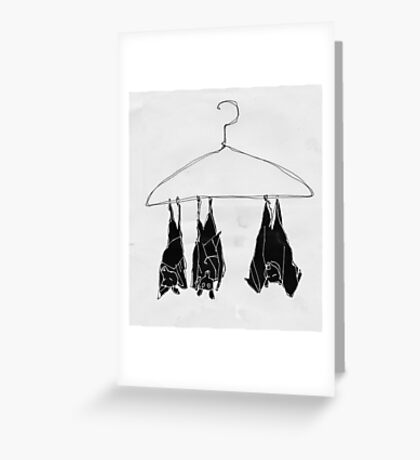 fruitbats in the closet Greeting Card