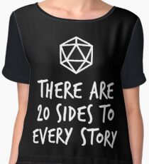 There Are 20 Sides to Every Story - Dungeons and Dragons (White) Chiffon Top