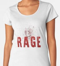 I WOULD LIKE TO RAGE!!! (White)  Women's Premium T-Shirt