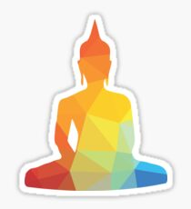 COLOR ZEN BUDDHA T-shirt Sticker