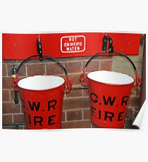 Two Red Buckets Poster