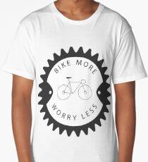 Bike More Worry Less Classic Long T-Shirt