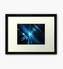 Sci-fi, technology or space theme pattern Framed Print