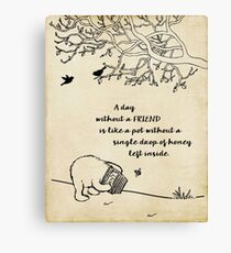 Winnie the Pooh - A Day Without a Friend Canvas Print