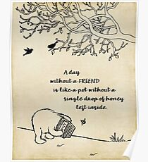 Winnie the Pooh - A Day Without a Friend Poster