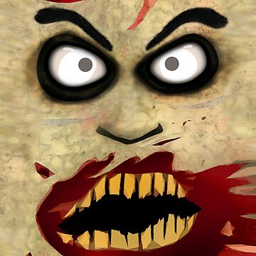 Zombie Face by JerryWLambert