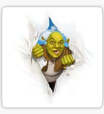 shrek ripping through time and space Sticker