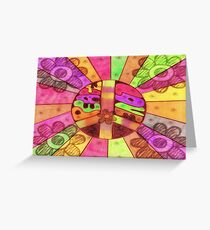 Rainbow Of Peace And Love Greeting Card