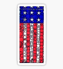 STARS AND STRIPES BUBBLE FLAG Sticker