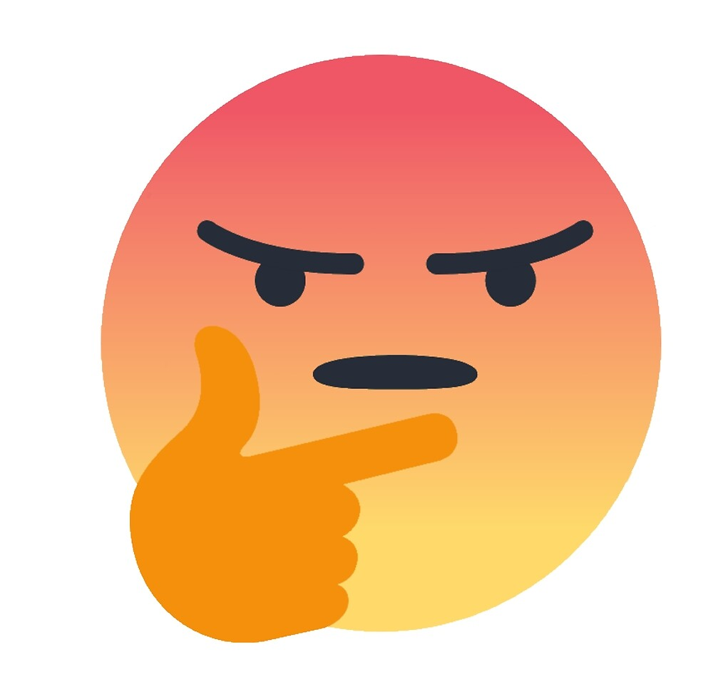 Angry Thinking Facebook Emoji by stertube