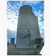 Looking Up...Youanmite Silos... Poster