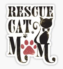 Rescue Cat Mom - Mother of Cats Sticker