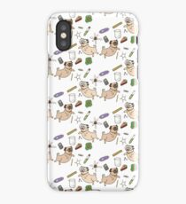 STEM Pugs (white) iPhone Case/Skin