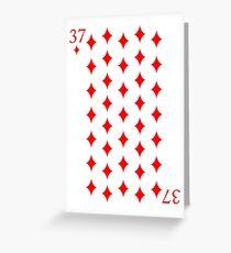 37 Diamonds Greeting Card