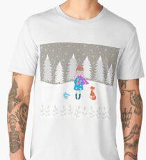 Girl - Fox - Winter Men's Premium T-Shirt