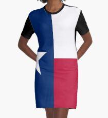 Flag of Texas Graphic T-Shirt Dress