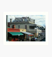 Streetscape, Castlemaine VIC Art Print