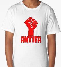 AntiFa Anti Fascist Fist Long T-Shirt
