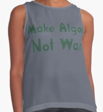 The 100- Monty Green Apron- Make Algae, Not War Contrast Tank