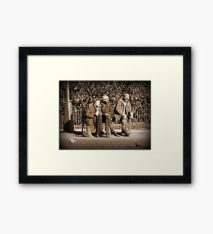 What shall we do today? Framed Print