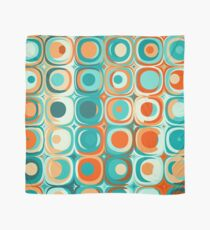 Turquoise and Orange Dots Scarf
