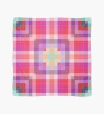 Bright Pink Modern Plaid Geometric Scarf