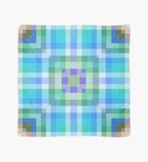 Bright Blue Plaid Geometric Scarf