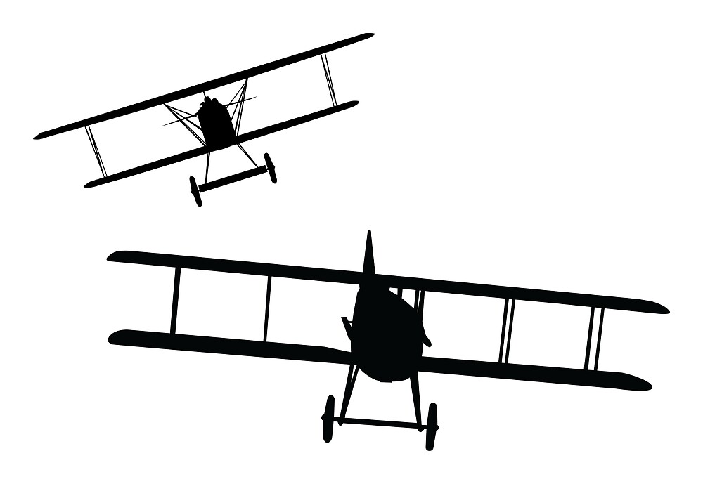 WWI - Fokker DVII versus Spad XIII  by AlphaEchoing