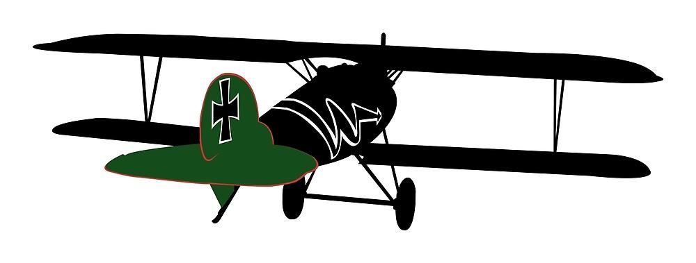 WWI - Albatros DV - Hans von Hippel by AlphaEchoing