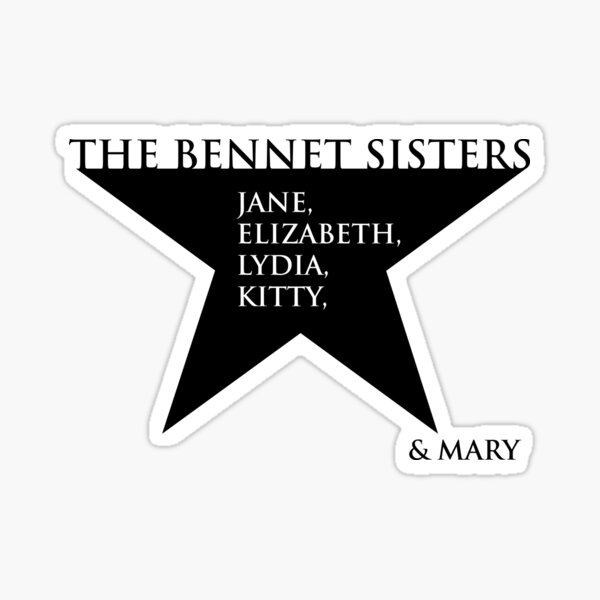 The Bennet Sisters Sticker