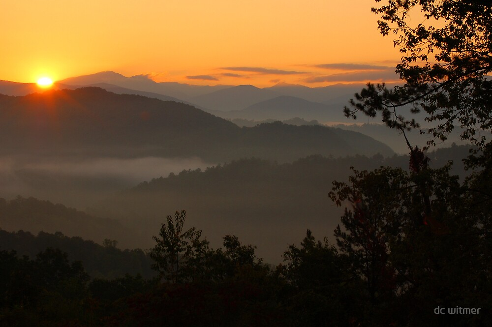 sunrise in the Smokies by dc witmer