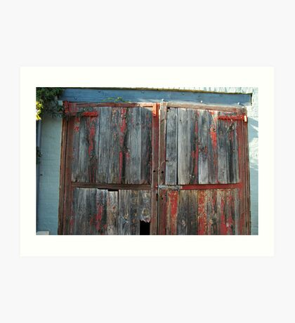 Stable Doors, Bendigo Art Print