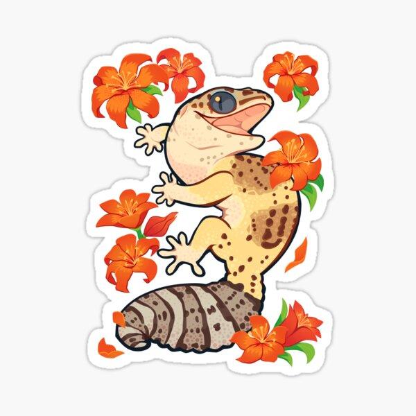 Fire lily gecko Sticker