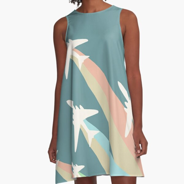 Airplanes Illustration A-Line Dress