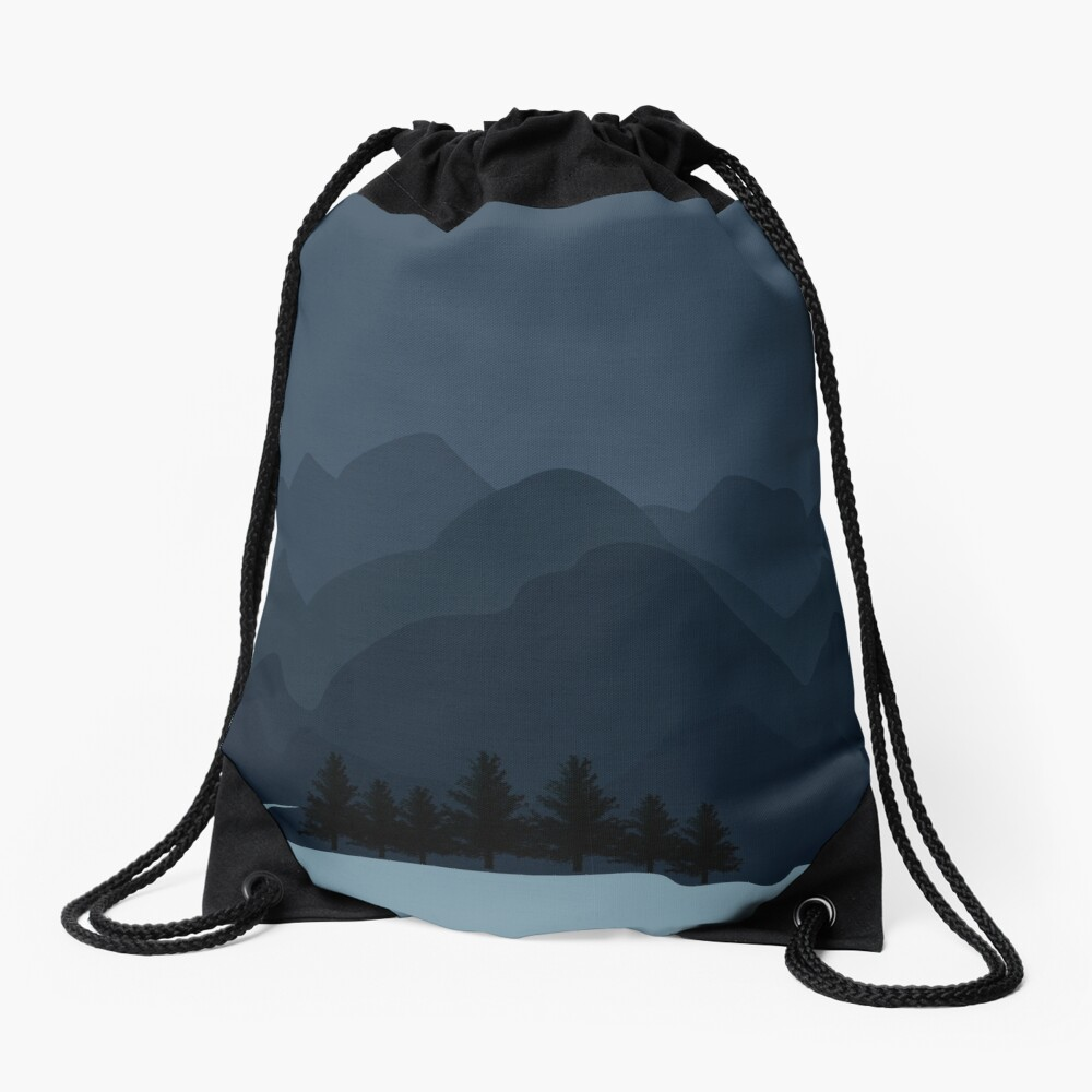 Into The Valley Drawstring Bag