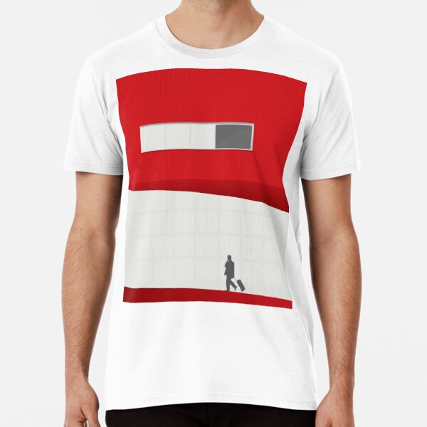 Funky Little Red Building Premium T-Shirt