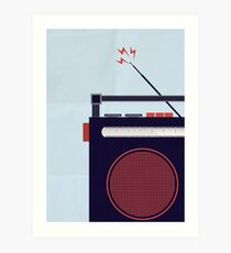 Funky Little Radio Art Print