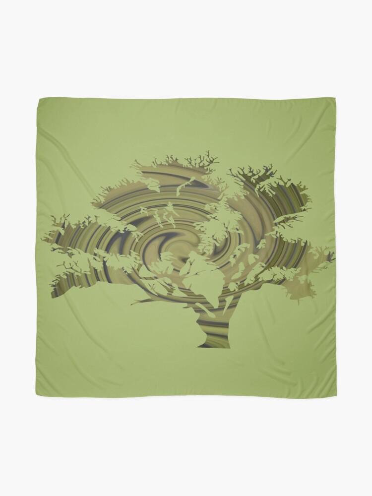Vista alternativa de Pañuelo Árbol de la vida- Remolinos esmeralda