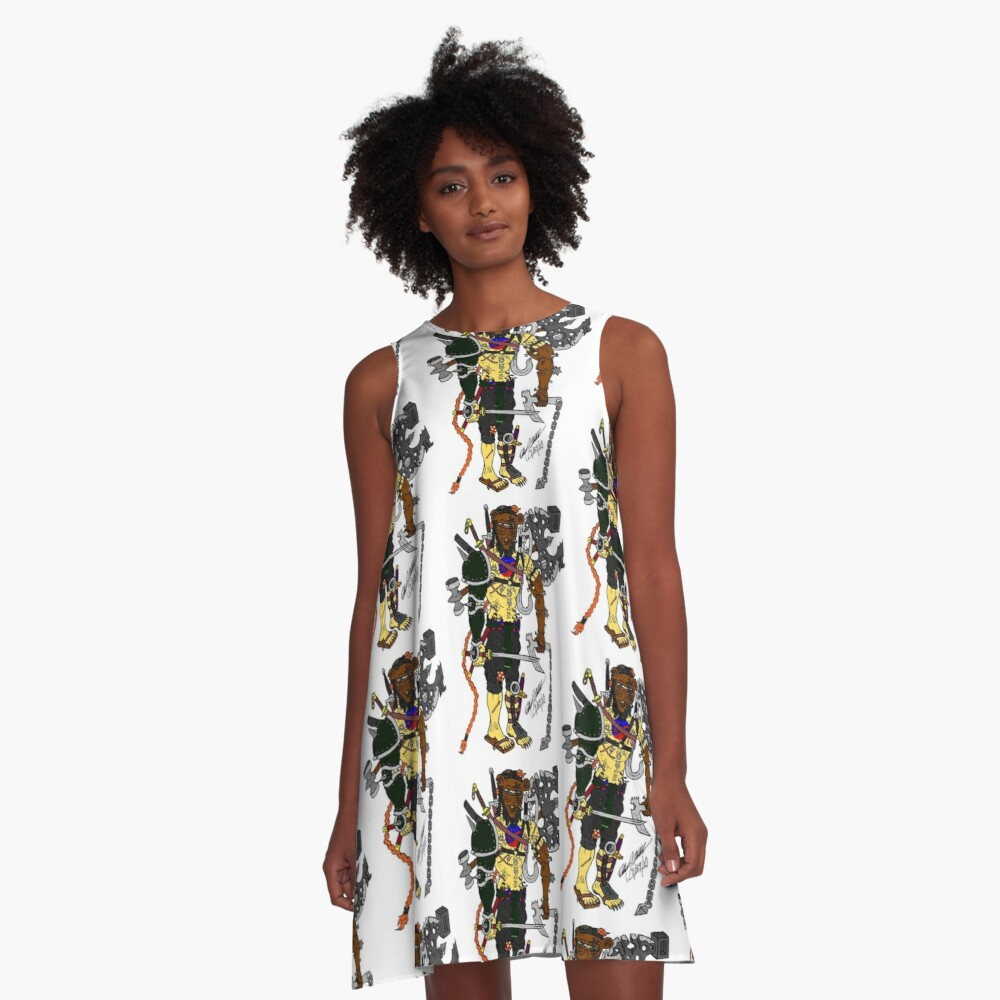 Pakku Nezumi Rough A-Line Dress Front