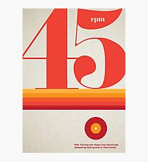 45rpm Photographic Print